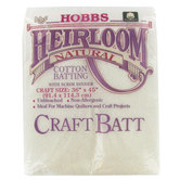 "Heirloom Natural Cotton Batting - 36"" x 45"""